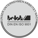 Our company works according DIN EN ISO 9001